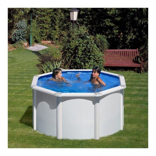 Stålvægs pool Rund Højde 1,2 m Fås i 2 størrelser 2,4-3,0 m