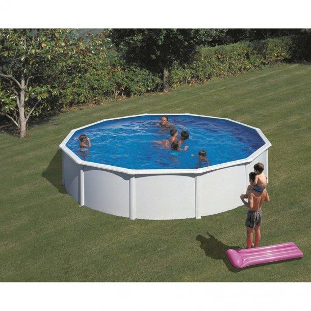 Stålvægs Pool Rund Højde 1,2 m Fås i 3 størrelser 3,5-5,5 m