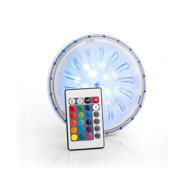 LED multifarvet Lampe til Pool med fjernbetjening