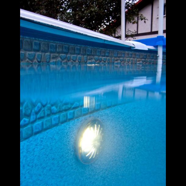 2 x LED Lys Hvid med magnet og Fjernbetjening til Pool