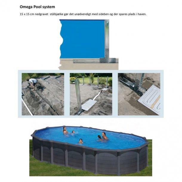 Stålvægs pool Oval Højde 1,32 m Uden ben - 3 størrelser