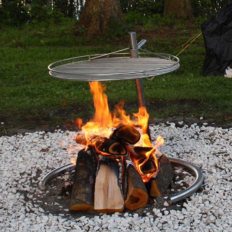 Udestående Bålsted af rustfrit stål til haven - The Campfire fra Greenhand VG94