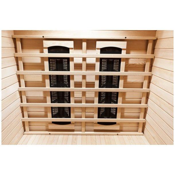 Infrarød sauna 120x120x194 cm Keramisk Grenada 2 Personer