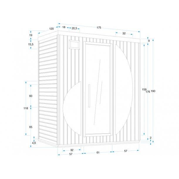 Infrarød sauna 175x120x194 cm Karbon Rowen 4 Personer