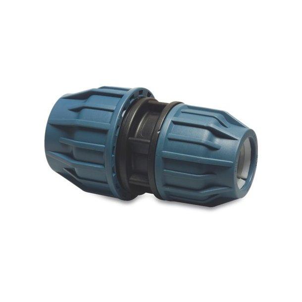 PP Reducerings muffe Ø 50/32 mm kompressions fitting