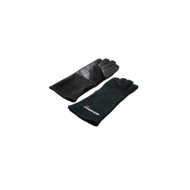 Grillhandsker i læder - Landmann
