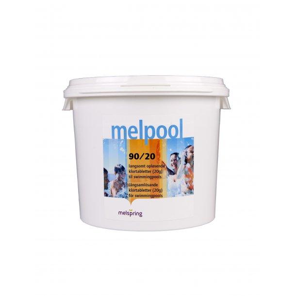 Klortabletter 90/20 langsom opløselig 10 kg - Melpool