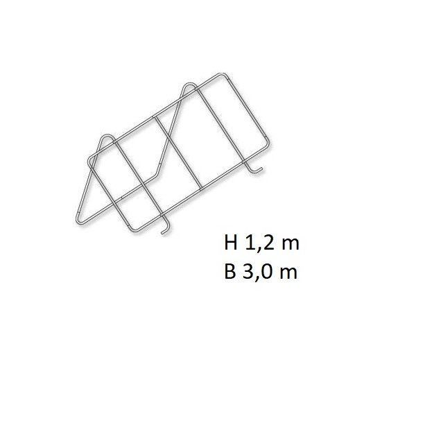 Holder til solpanel på 1,2*3,0 m