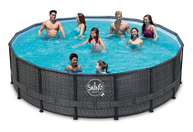 rund st lramme pool 4 88 m pool til hele familien. Black Bedroom Furniture Sets. Home Design Ideas