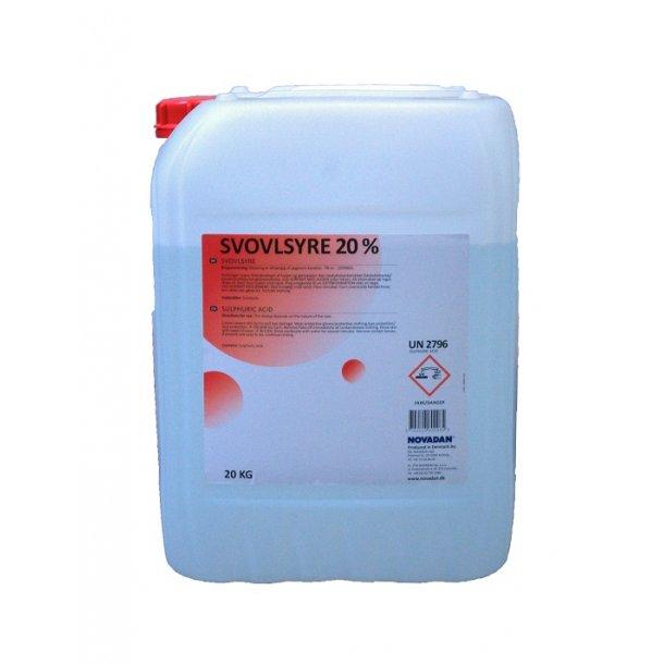 Flydende svovlsyre 20% 20 kg - Novadan