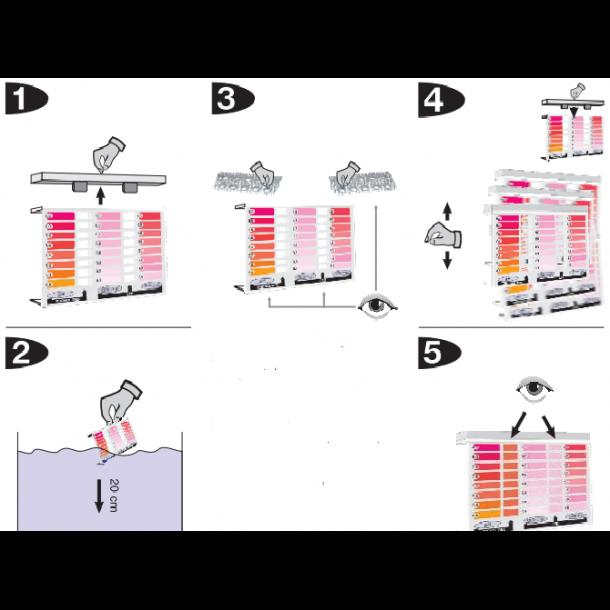Pooltester aktiv ilt(oxygen) / ph testsæt