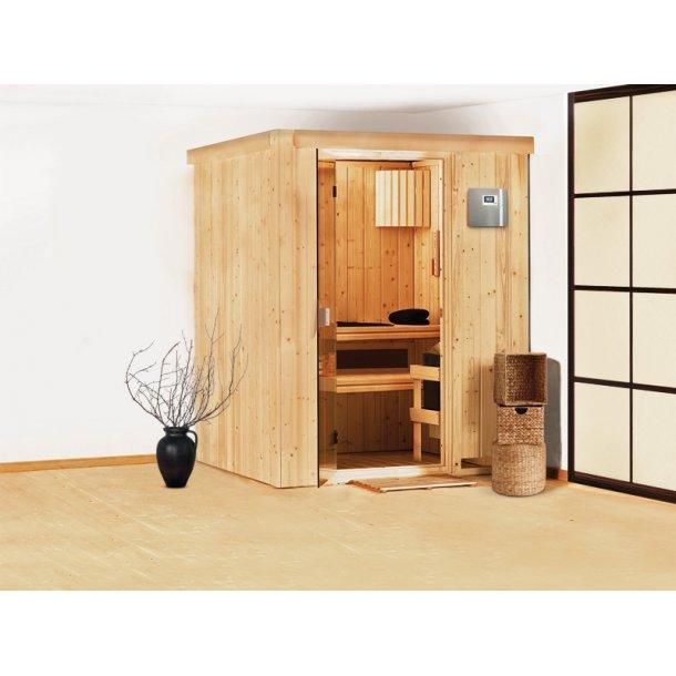 Sauna kabine Heikki 151x151x198 cm 3,6 kW Elovn