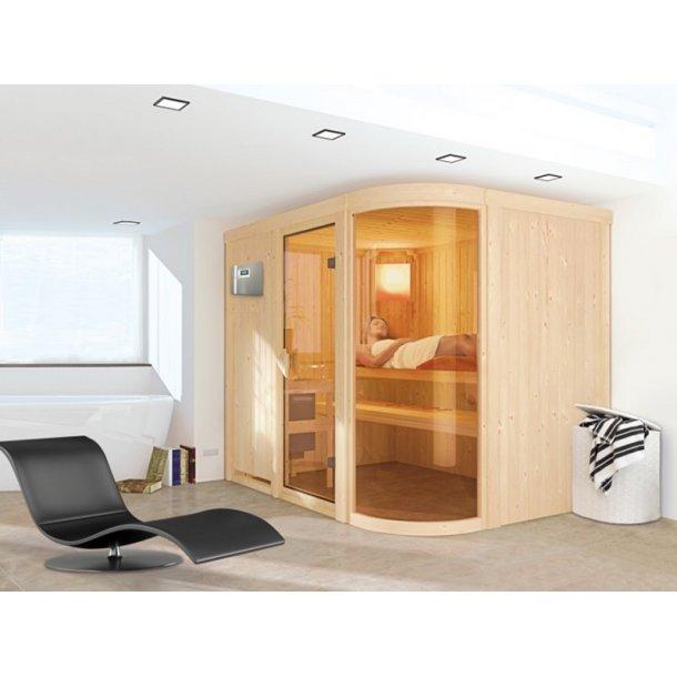 Sauna kabine Parima 4 - 170x231x198 cm 9 kW Elovn