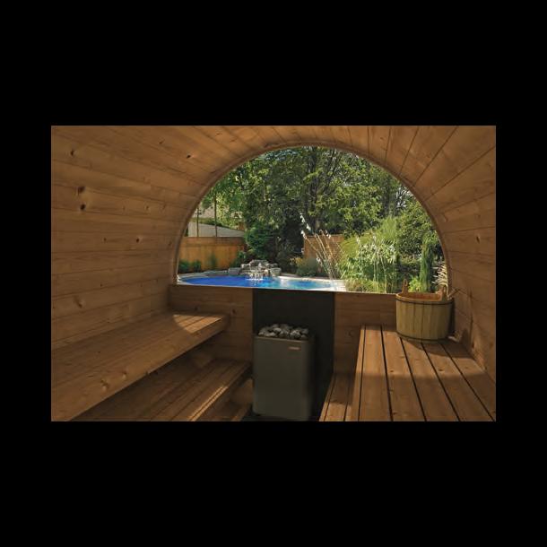 Panorama glas vindue til Tønde Sauna - halvt glas