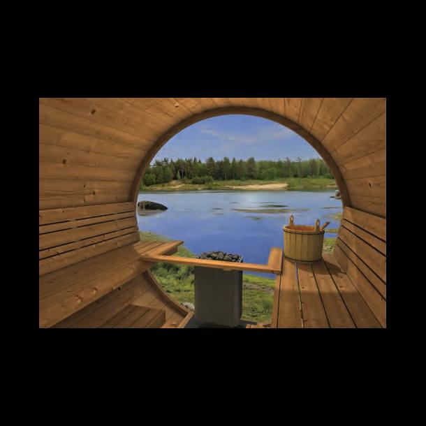 Panorama glas til Tønde Sauna - helt glas