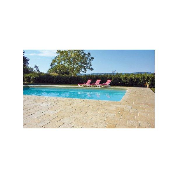 Roma kantfliser lige til din pool 500x320x35 mm