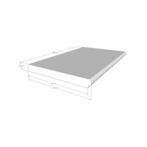 Sparta kantfliser lige til din pool 500x320x35 mm