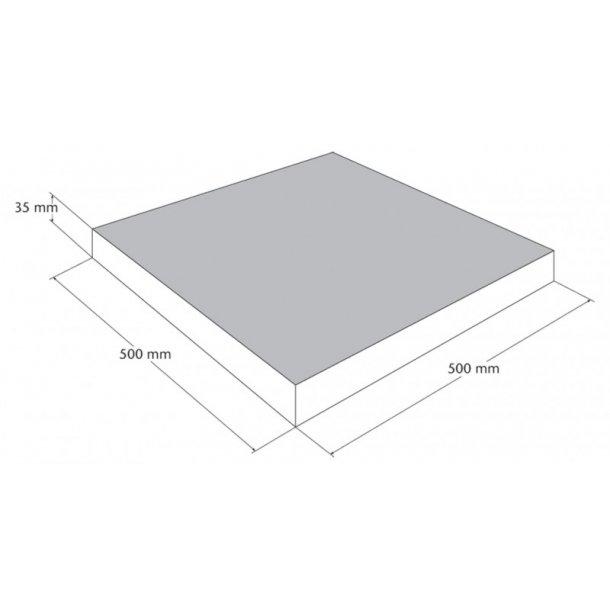 Belægningsfliser 500x500x35 mm