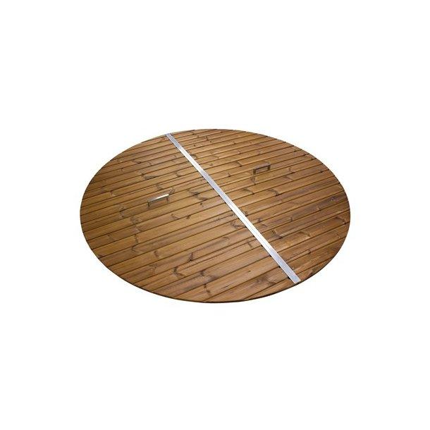 Trælåg i varmebehandlet træ til Poly/Fiber tub