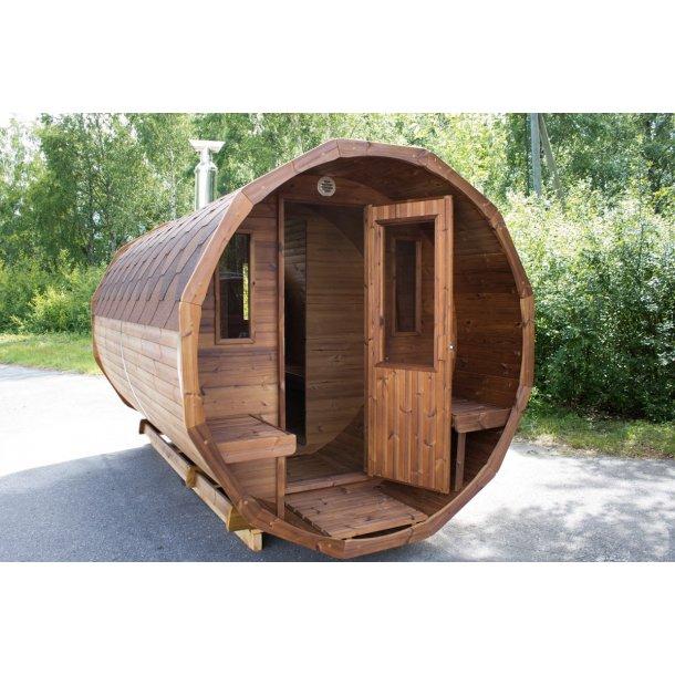 Sauna tønde Thermowood 350 cm Brændeovn Saml Selv