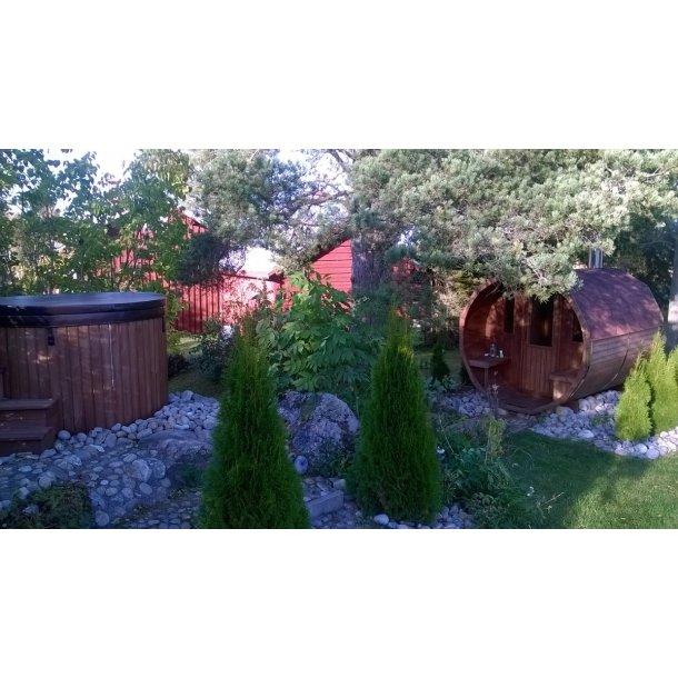 Sauna tønde Thermowood 350 cm Uden Ovn Saml Selv