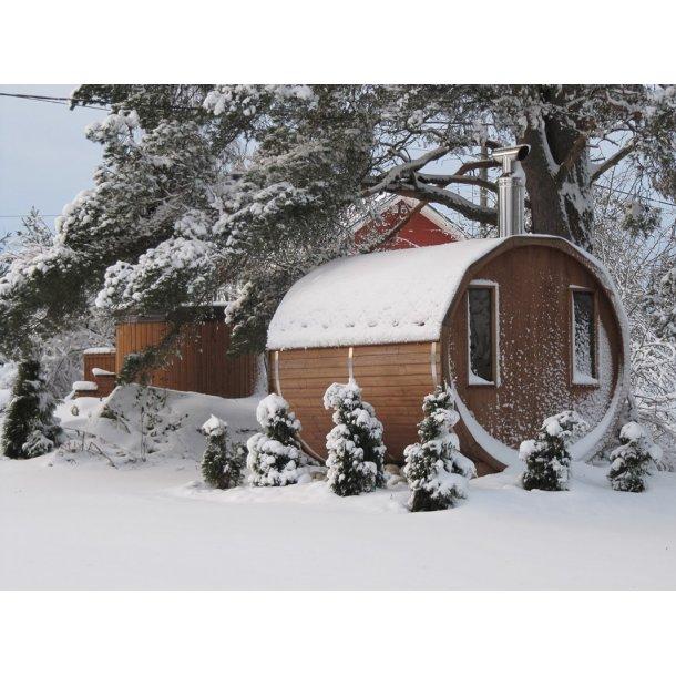 Sauna tønde Thermowood 260 cm Brændeovn Saml Selv