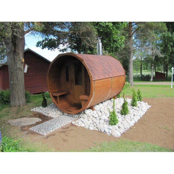Sauna tønde Thermowood 260 cm Uden Ovn Saml Selv