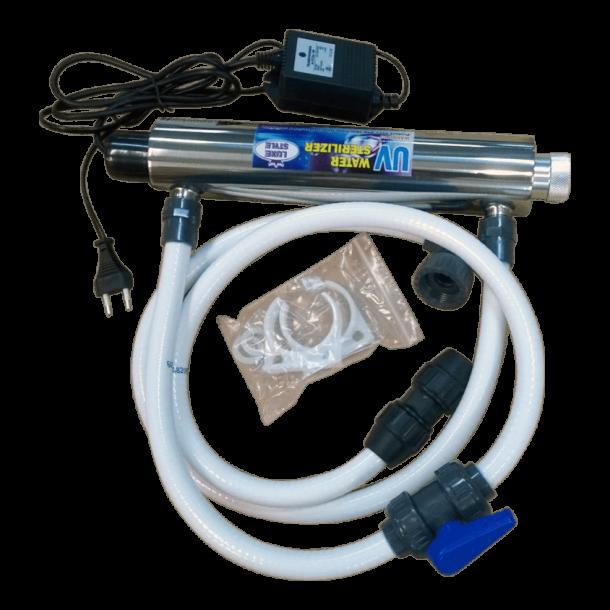 UV-C vanddesinfektion rustfrit stål 16W til spa