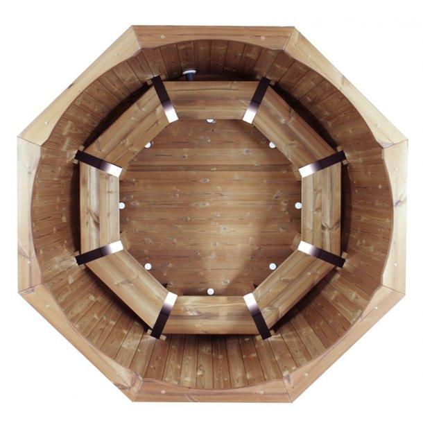 Vildmarksbad Ø180 cm Udvendig ovn Thermowood Saml selv