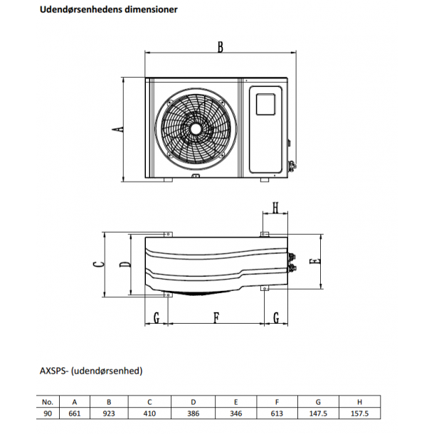 Split Varmepumpe 9 kW Indendørs Pool