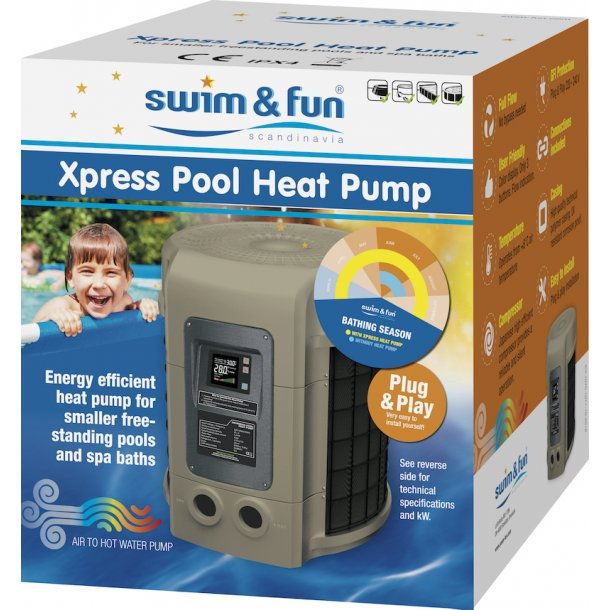 Xpress Poolvarmepumper Swim & Fun