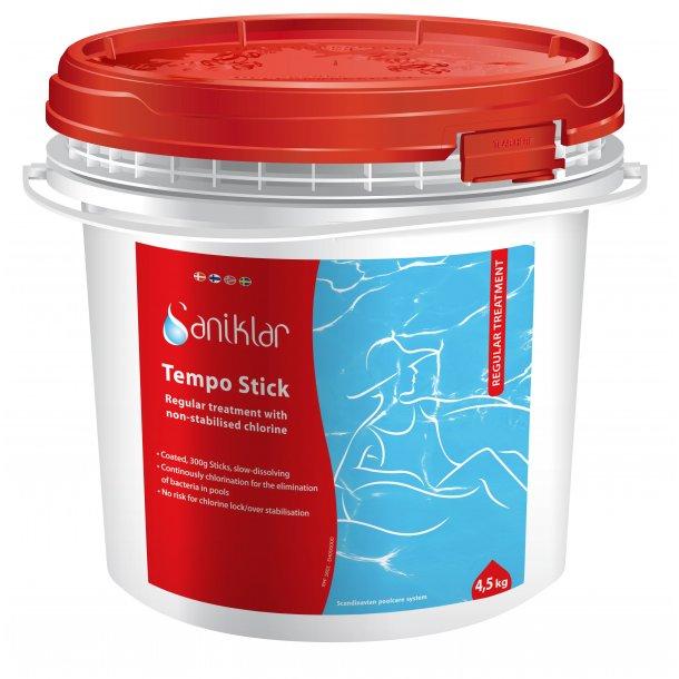 Tempo stick 4,5 kg - 300 g Klortablet uden Cyanursyre - Saniklar