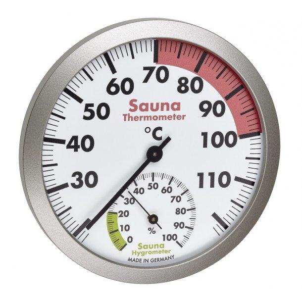 Sauna termometer - hygrometer Ø 12 cm