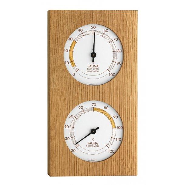 Sauna Termometer - Hygrometer Egetræ