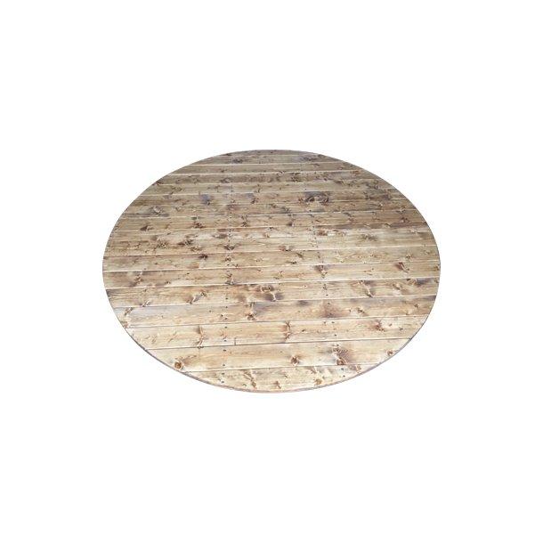 Trælåg 2-delt Grantræ til Vildmarksbad Ø 160 cm med udvendig ovn