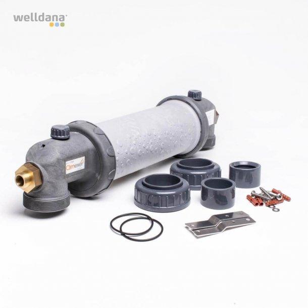 Varmeveksler 25 -90 kw Titanium til Saltvands Pool