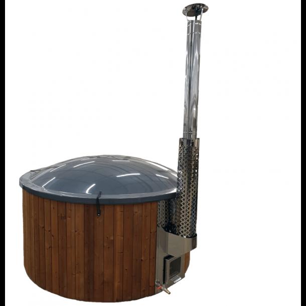 Vildmarksbad Deluxe XL Glasfiber-Thermowood Indbygget Ovn Ø 2,3 m Fås 3 farver