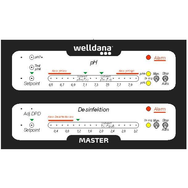 Welldana® master ph/cl, analog on/off funktion.