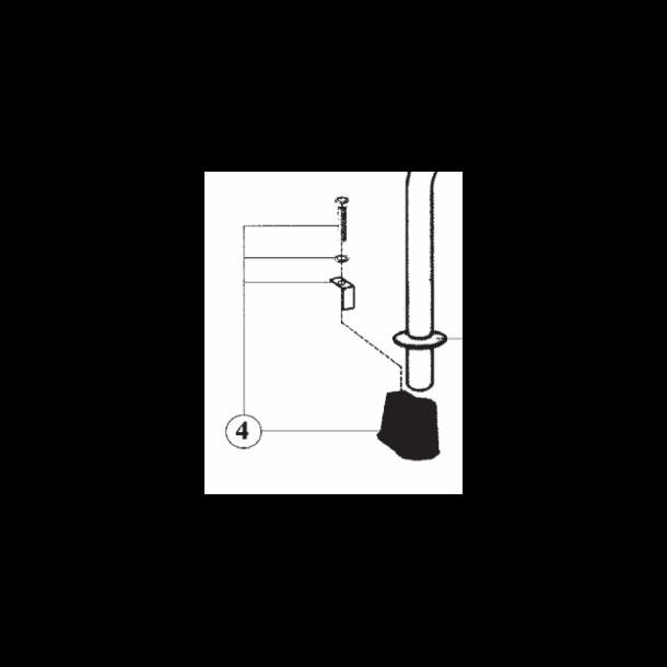 Indstøbningsdel til mont. af stige i betonkant