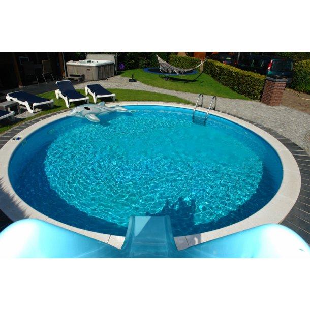 Milano Pool Rund Højde 1,35m Liner 0,6mm Flere størrelser