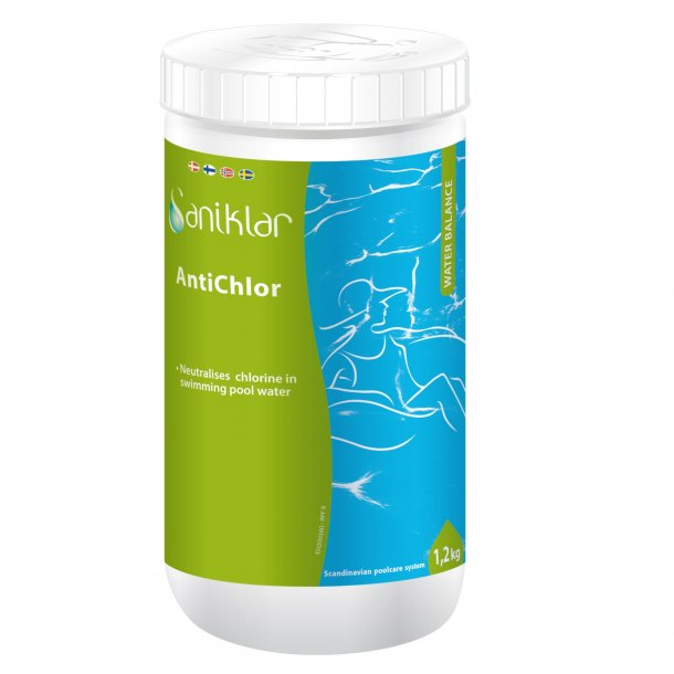 Antiklor 1,2kg til swimmingpool