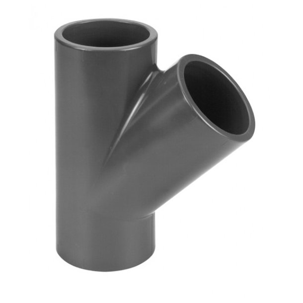 Y-fittings 50mm 45º PVC Lim/lim/lim