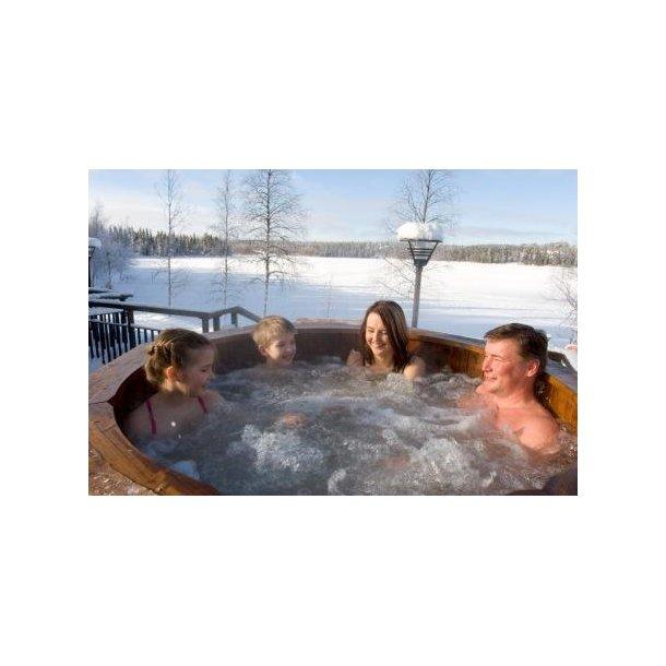 Boble massage system til vildmarksbad ø 180 cm(8 dyser)