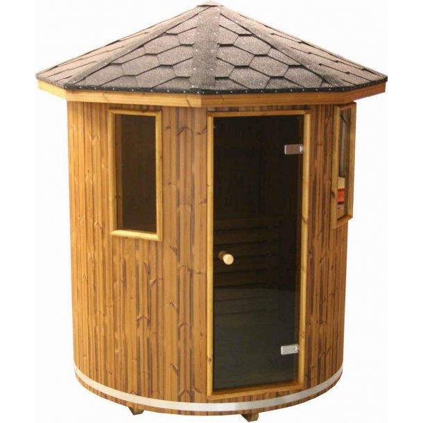Sauna Tønde Thermowood Ø180 Elovn Saml Selv
