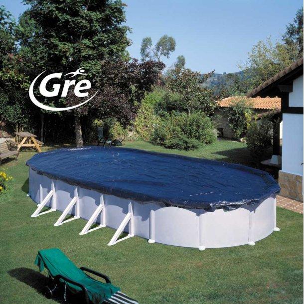 Vinter cover - overtræk til oval fritstående pool - flere størrelser