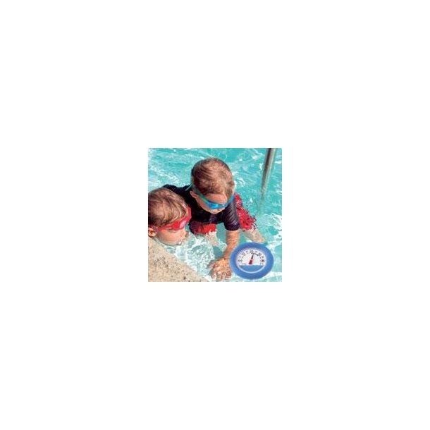 Stort swimmingpool termometer flydende