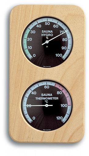 Sauna Termometer - Hygrometer med Haar Synthetik TFA d6803a60536c8