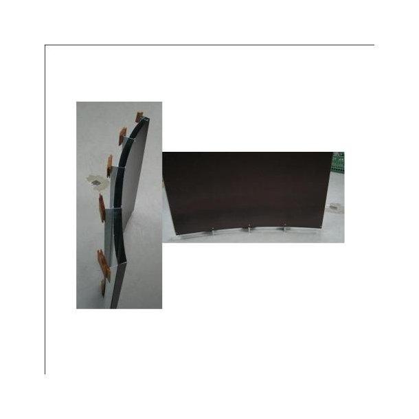 Væg plade til tønde sauna med brændeovn
