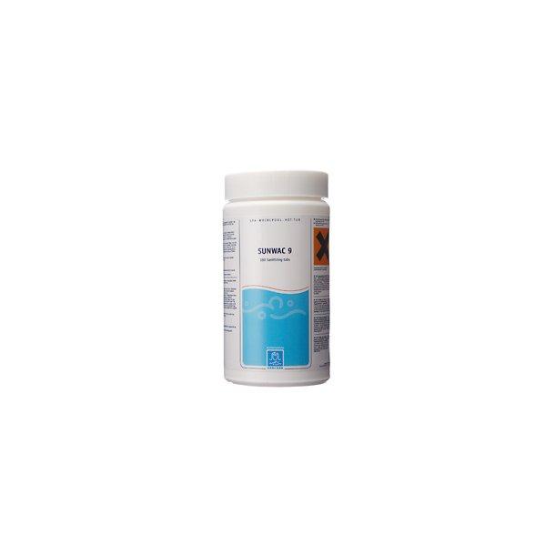 Sunwac 9 Klor Tabletter - 180 tabs 1 kg - Spacare