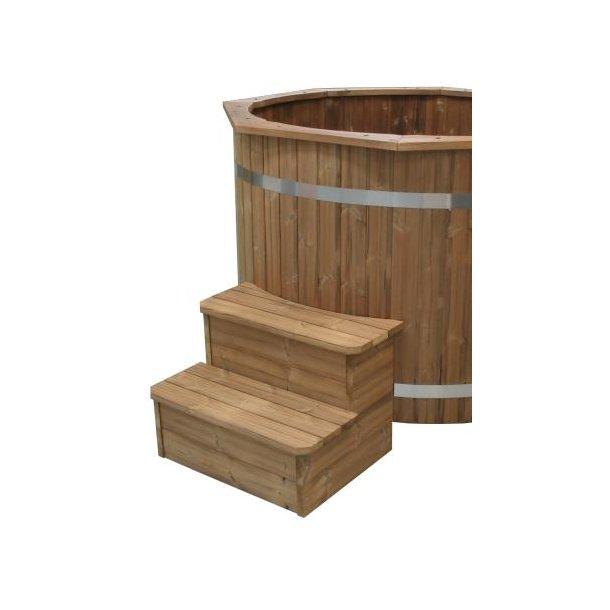 Trappe standard til vildmarksbad ø150 cm